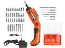 KIT ATORNILLADOR INALAMBRICO 48Pzas. BD4902LA - BLACK AND DECKER