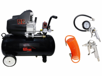 COMPRESOR AIRE DIRECTO 2.5HP 50Lts.+ KIT 3 PIEZAS AIRE OFERTA - BLACK PANTHER - FMT - NAKAMA
