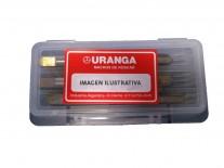 MACHO ACERO RÁPIDO (HSS) ROSCA MÉTRICA GRUESA (M) 2.0x0.40 KIT CONOS - URANGA